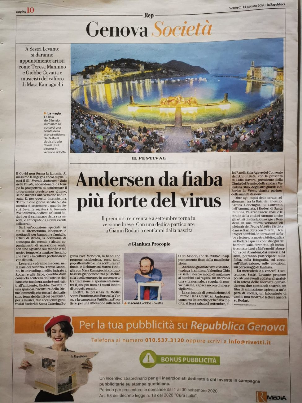 la Repubblica – VENERDì 14 AGOSTO 2020